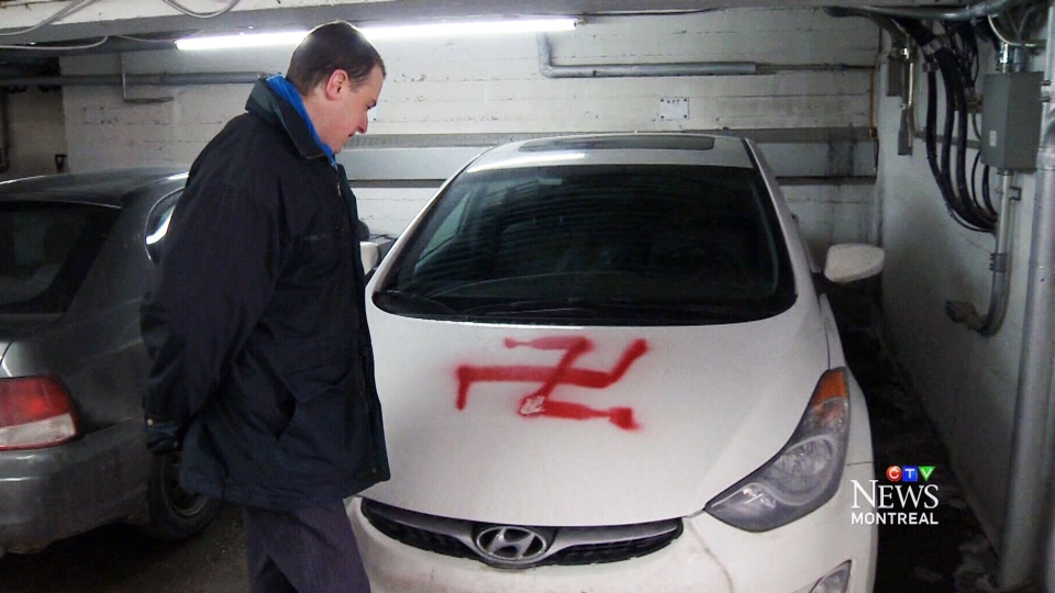 Montreal Police Treating Cars Spray Painted With Swastikas