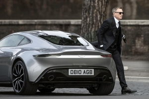 In this Saturday, Feb. 21, 2015 file photo, actor Daniel Craig steps out of a sports car during the shooting of the latest James Bond movie 'SPECTRE' in Rome. (AP / Angelo Carconi, ANSA)