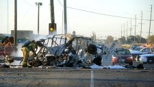 Train crashes into truck in Oxnard, Calif.