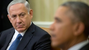 Benjamin Netanyahu and Barack Obama in the Oval Office on Oct. 1, 2014. (AP / Pablo Martinez Monsivais)