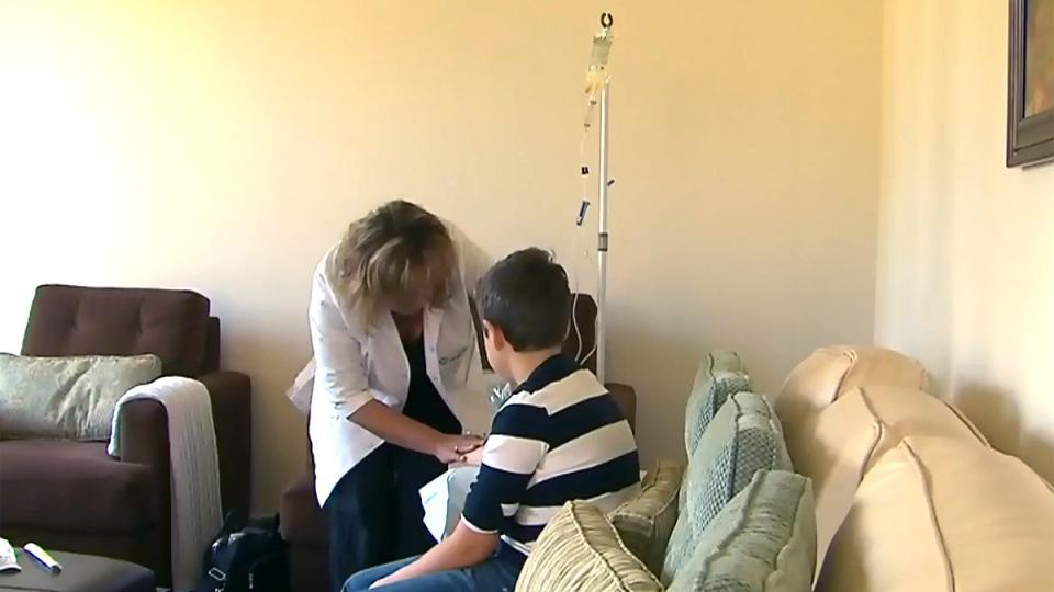 Atypical Hemolytic Uremic Syndrome (aHUS) patient Joshua Debortoli is treated with the drug Soliris.