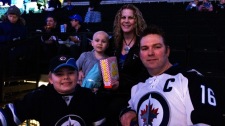 Girl facing chemo gets boost from Jets