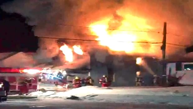 Mynews Raging House Fire In Cardinal Ont Ctv News