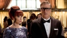 Actors Lauren Holly and Chris Noth are shown in a scene from the film 'After The Ball.'