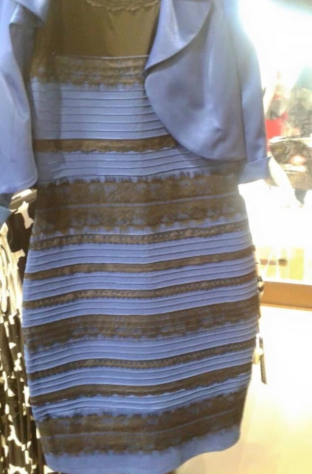 Black and blue or white and gold?