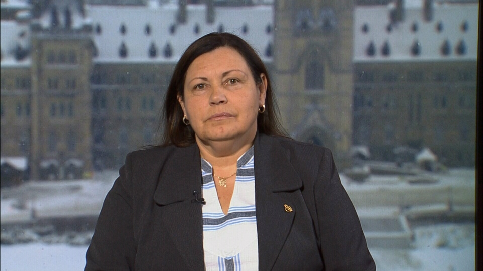 Betty Ann Lavallee, national chief of the Congress for Aboriginal Peoples, speaks to Canada AM from Ottawa on Feb. Fen. 27, 2015.