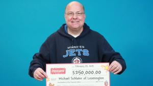 Michael Schlater, 54, won $250,000 on a $10 Instant Cadillac Riches lottery card.