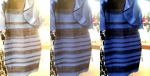 Wired created this white-balanced image showing a more 'white and gold' dress on the left, and a 'black and blue' one on the right.