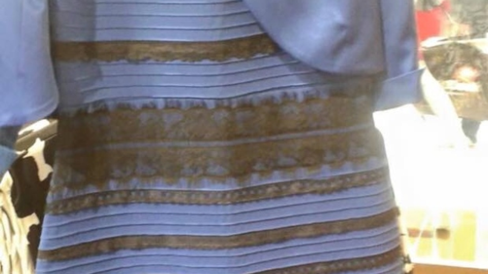 This dress, posted by Tumblr user Swiked Thursday night, is either black and blue or white and gold, depending on who you ask (Tumblr)