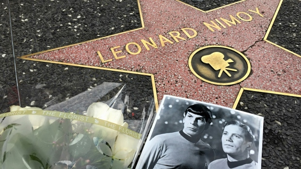 He played one of the most beloved characters in the history of television as Spock on the original &#39;Star Trek&#39; TV series. CTVNews.ca looks back on his amazing life as an actor, artist, and sci-fi icon.<br><br>Flowers adorn the Hollywood Walk of Fame star of Leonard Nimoy in Los Angeles Friday, Feb. 27, 2015. (AP / Damian Dovarganes)