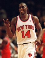 New York Knicks Anthony Mason runs down court during an NBA basketball game against the Washington Bullets in New York in this Dec. 3, 1995 file photo. (AP / Ron Frehm)
