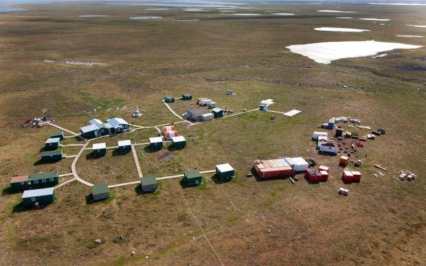 Uranium mining camp in Nunavut