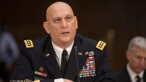 Army Chief of Staff Gen. Raymond Odierno testifies on Capitol Hill in Washington, Wednesday, Jan. 28, 2015, before the Senate Armed Services Committee hearing on the impact of the Budget Control Act of 2011 and sequestration on national security. (AP / Kevin Wolf)