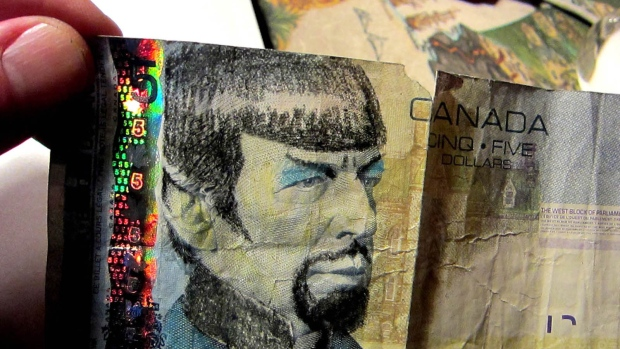 A likeness of Leonard Nimoy