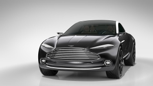 The car is battery-powered and offers room for four to travel in complete comfort. (Photo from Aston Martin Lagonda)