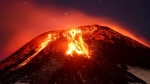 The Villarica volcano erupts near Pucon, Chile, on March 3, 2015. (AP / Lautaro Salinas) CHILE OUT - NO USAR EN PUBLICACIONES O WEBSITES EN CHILE