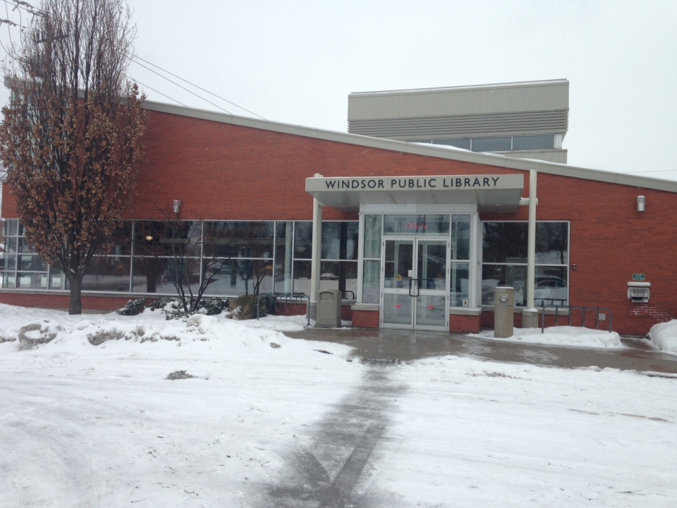 The Riverside branch of Windsor Public Library in Windsor, Ont., on Tuesday, March 3, 2015. (Chris Campbell / CTV Windsor)