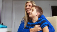 Give a hug campaign for boy with tumour