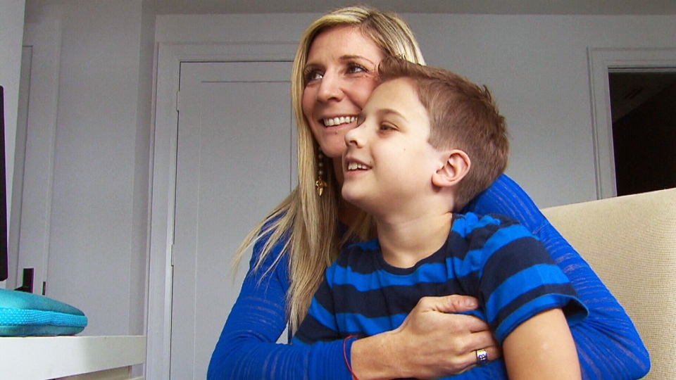 Sebastian Yanquelevech is pictured with his mother, Nadine Weis.