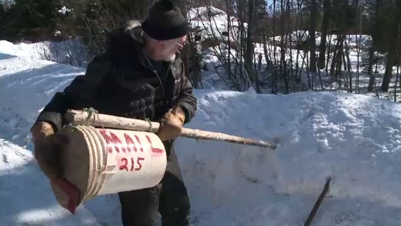 N S  man fashions 'mail bucket' after plows damage mailbox | CTV