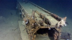 Paul Allen's team believes this is a catapult system from a sunken Japanese battleship off the coast of the Philippines. (AP / Paul Allen)