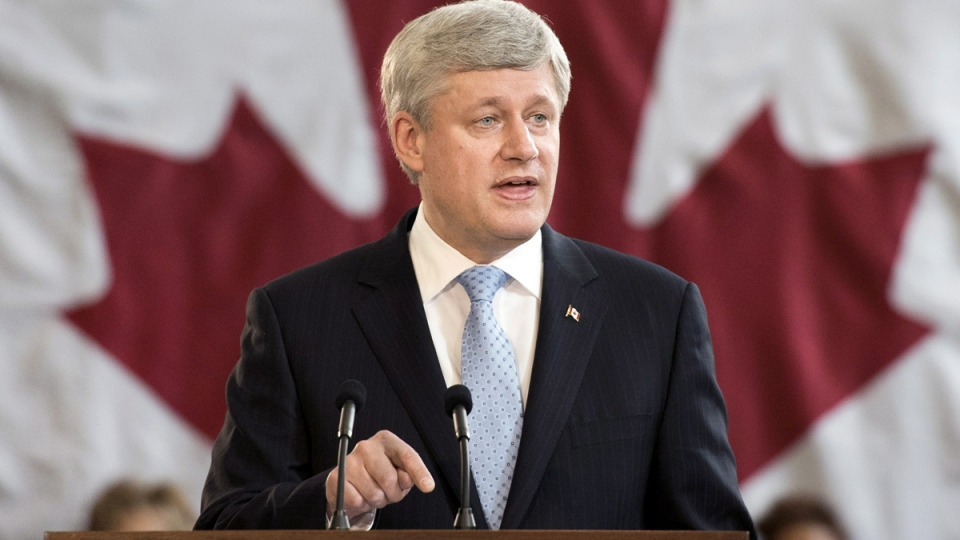 Prime Minister Stephen Harper speaks during a press conference in Toronto on Wednesday, March 4, 2015. (Darren Calabrese / THE CANADIAN PRESS)