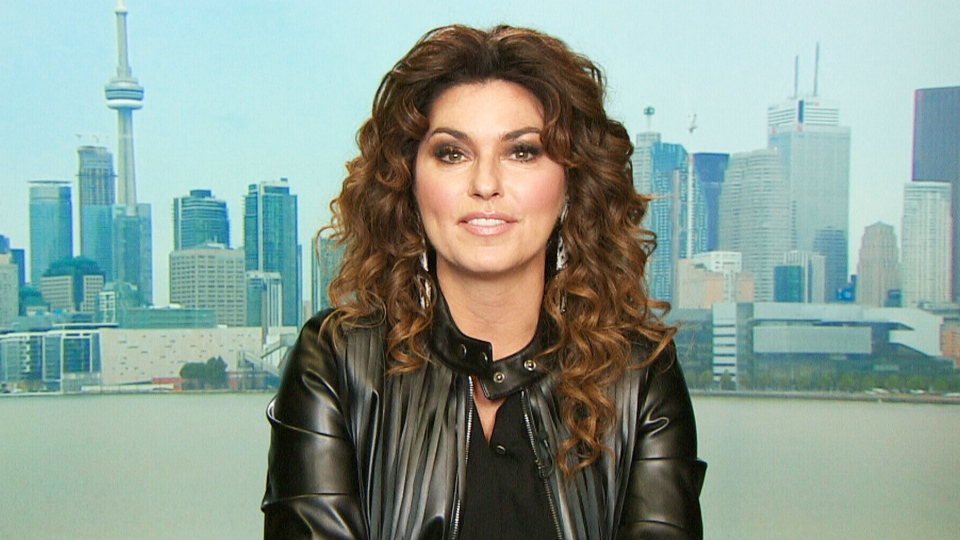Shania Twain appears on Canada AM from CTV studios in Toronto on Thursday, March 5, 2015.