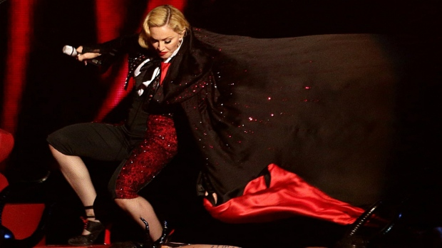 Madonna says exercise limited injury from fall