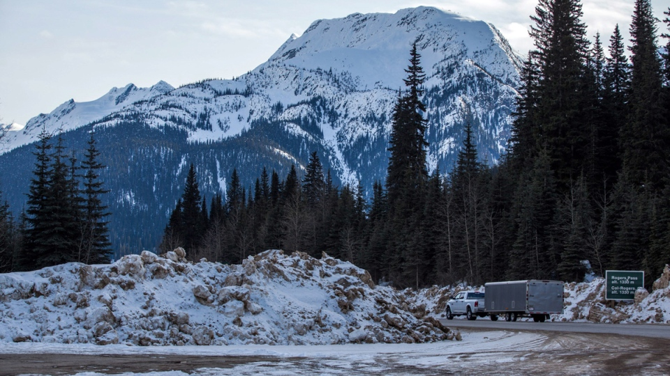 Searchers are focusing their efforts northeast of Revelstoke and up into Rogers Pass, which is shown in this file photo from March 4, 2015. (THE CANADIAN PRESS / Jeff Bassett)