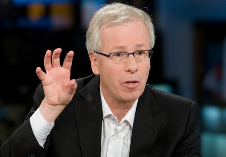 Liberal Leader Stephane Dion gestures as he speaks directly to the camera during an interview during a campaign stop in Toronto on Sunday, Oct. 12, 2008. (THE CANADIAN PRESS / Adrian Wyld)
