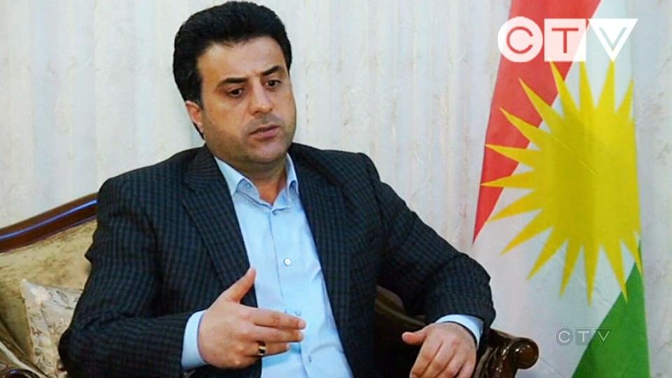 Halkord Hikmet, a spokesman for the peshmerga, speaks to CTV News.