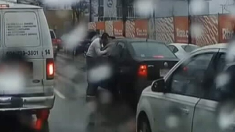 FILE: An apparent case of road rage was caught on camera in East Vancouver. (YouTube)