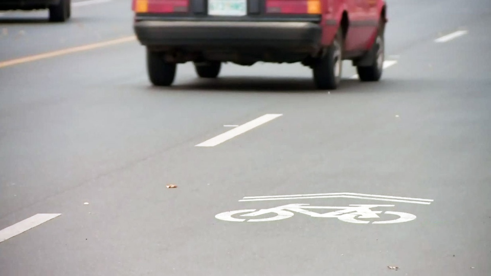 A bike lane is pictured in this file photo.