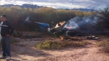 Helicopters crash in Argentina