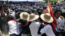 Myanmar police crack down on students