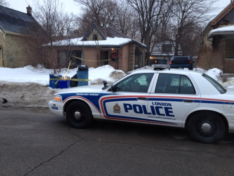 London police investigate a fatal shooting on English Street on Tuesday, March 10, 2015. (Sean Irvine / CTV London)