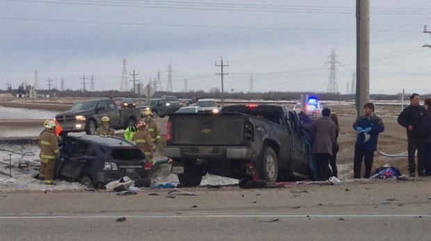 CTV Winnipeg: Highway 59 crash sends 1 person to h   CTV News
