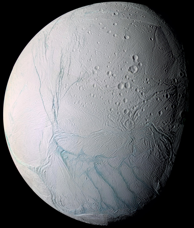 Enceladus, one of Saturn's moons