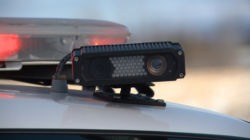 OPP are using automated license plate recognition software to catch drivers who shouldn't be on the roads (Tyler Fleming/CTV Ottawa, March 11, 2015)