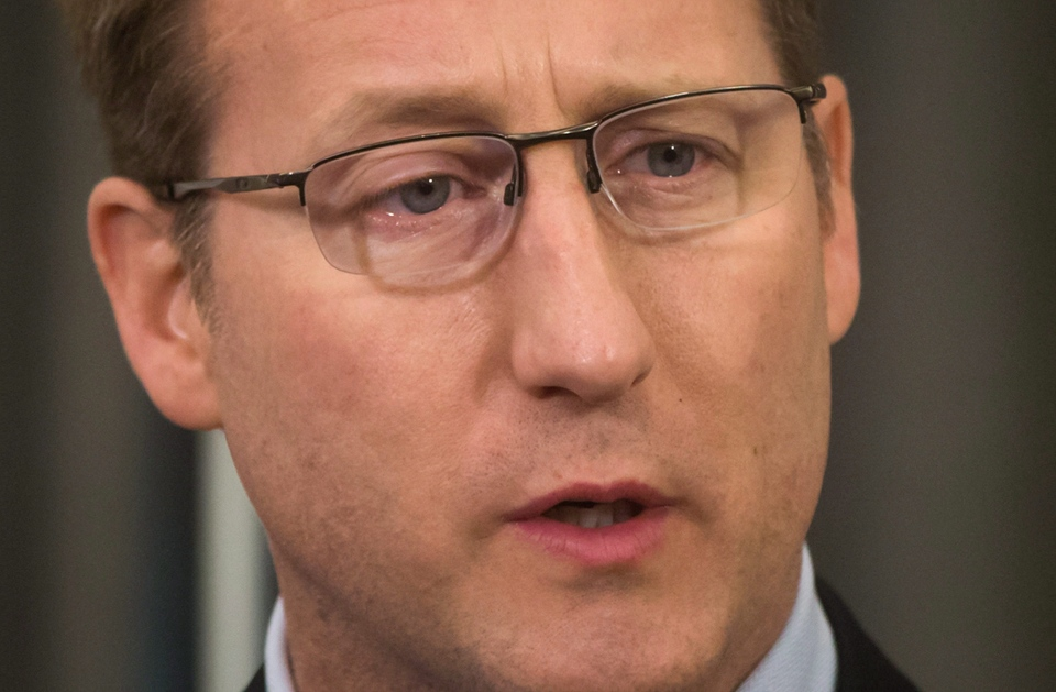 Federal Minister of Justice and Attorney General Peter MacKay speaks during a news conference in Vancouver, B.C., on February 11, 2015. (Darryl Dyck / The Canadian Press)