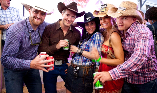 Partygoers at Calgary Stampede