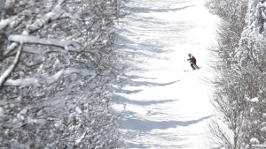 FILE: A skier at Mont Tremblant (THE CANADIAN PRESS/Sean Kilpatrick)