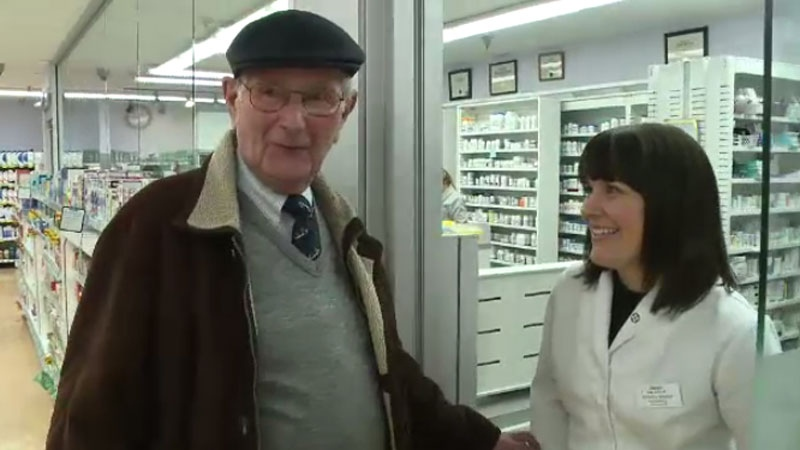 Anse MacDonald says he owes his life to a blood pressure machine and quick-thinking pharmacist at his local pharmacy.