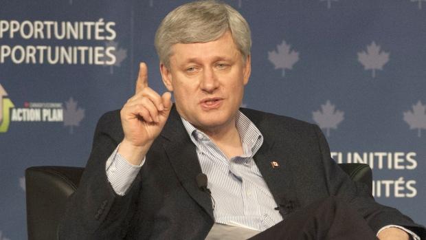 Prime Minister Stephen Harper on guns