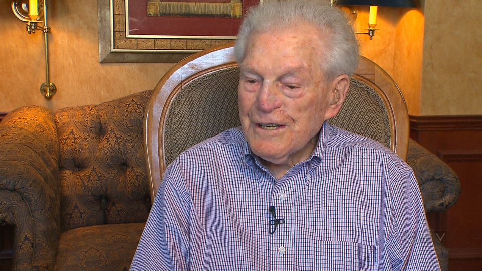 Robert Wiener, a 106-year-old retired oral surgeon speaks with CTV News from his retirement home, Westmount One, in Montreal.