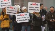 Sex ed curriculum protest