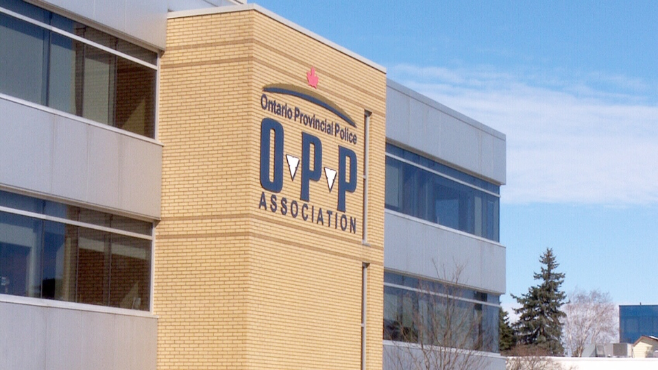 The head office of the Ontario Provincial Police Association is seen in Barrie, Ont.