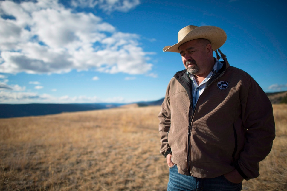 Chief Joe Alphonse, tribal chairman of the Tsilhqot'in Nation is pictured at Farwell Canyon, B.C. Friday, Oct. 24, 2014. (Jonathan Hayward/THE CANADIAN PRESS)