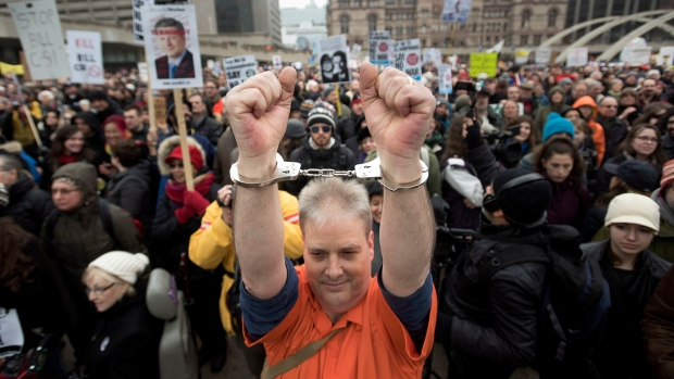Hundreds protest anti-terrorism bill at 'Defend our ...