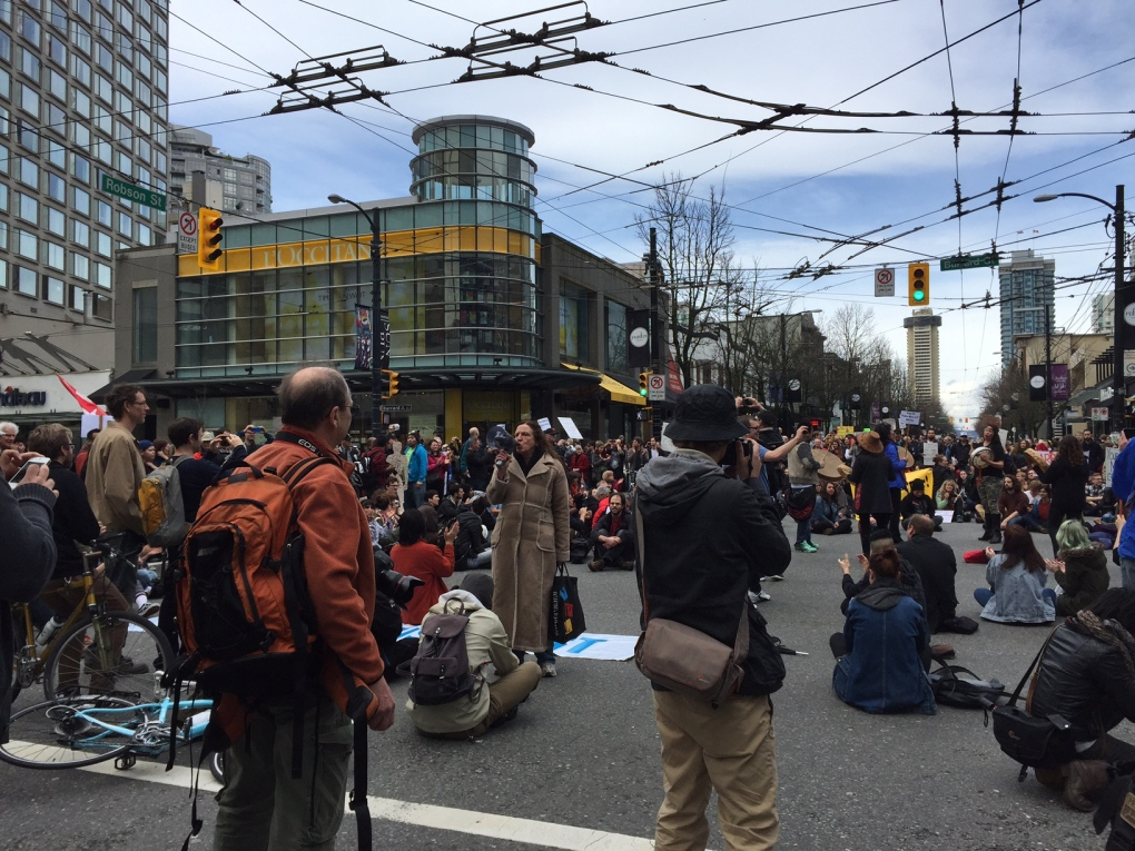 Hundreds Protest Anti Terror Bill In Downtown Vancouver